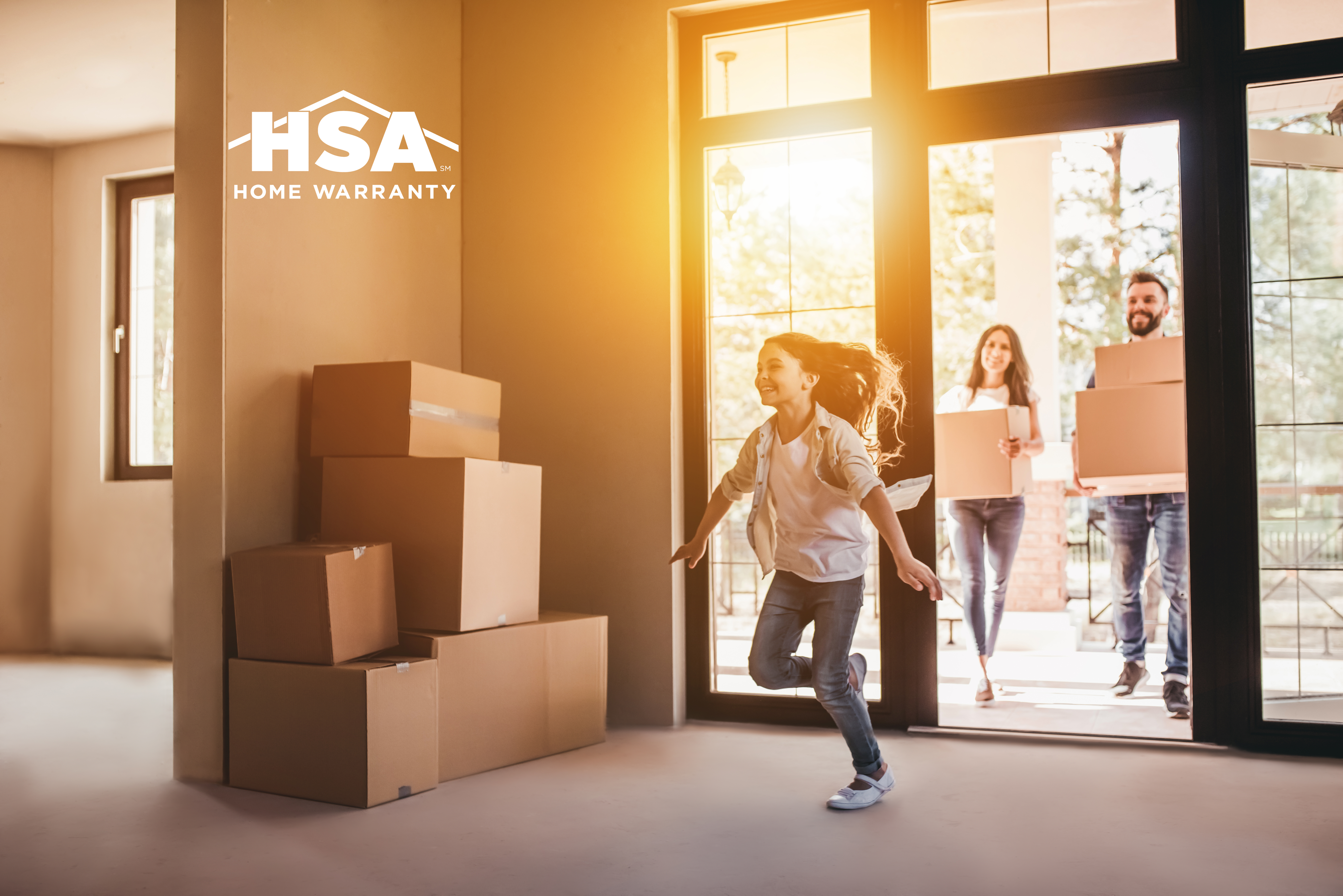 Happy family with cardboard boxes in new house at moving day.; Shutterstock ID 669633394; Purchase Order: HSA; Job: HSA-B2B-0117